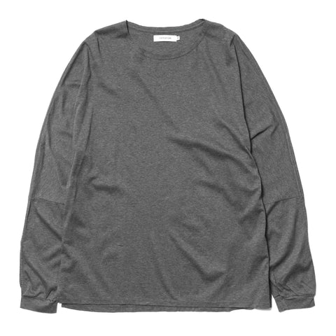 nonnative Roamer L/S Tee Cotton Smooth Jersey Charcoal