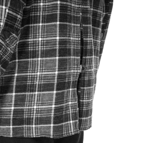 nonnative Tourist Long Shirt Cotton Flannel Print Check VW Black