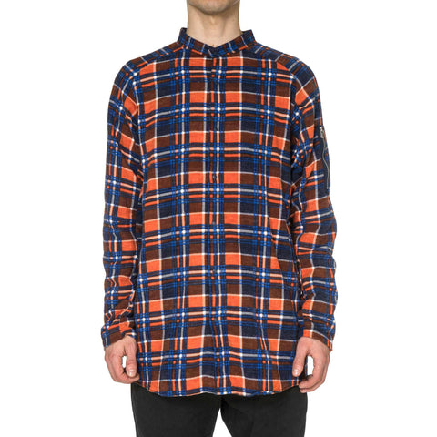 nonnative - Tourist Long Shirt Cotton Flannel Print Check VW Orange