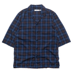 nonnative Tourist Shirt S/S R/T Plaid Navy
