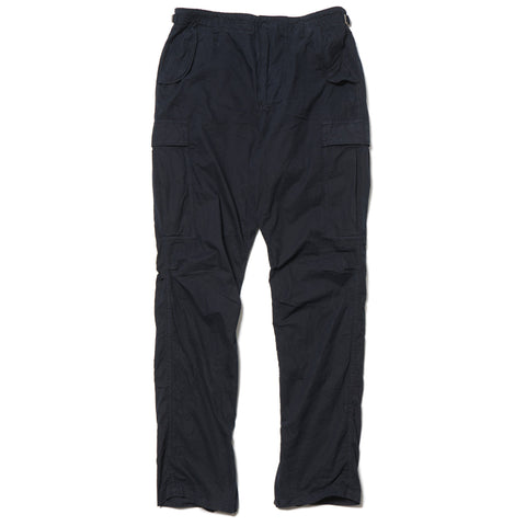 nonnative Trooper Trousers Relax Fit Cotton Twill Overdyed Deep Sea