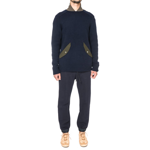 sacai Collared Knit Sweater