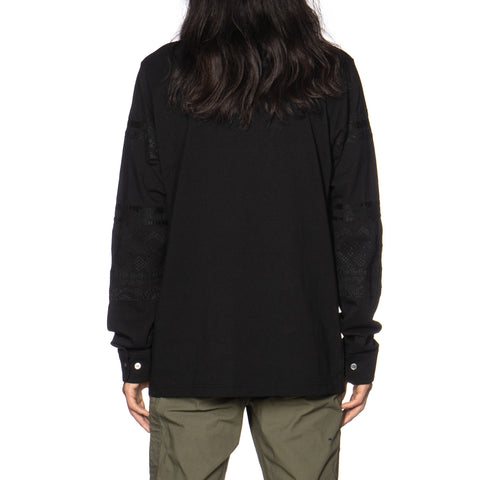 sacai Embroidery Solid T-Shirt Black