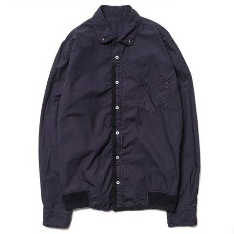 sacai Overdyed Button Down Shirt Navy