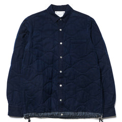 sacai Quilted Drawcord Flannel Shirt