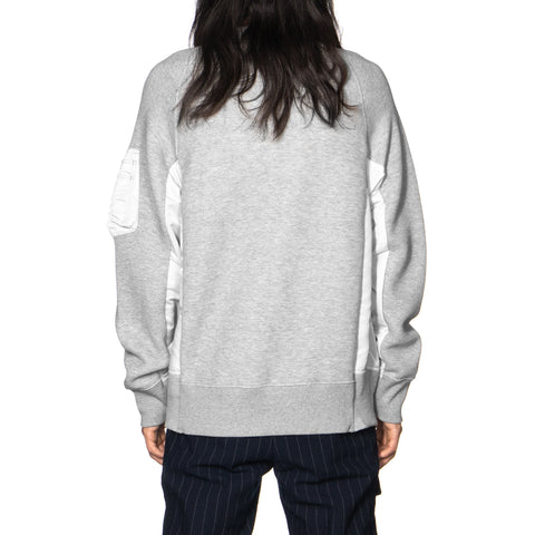 sacai Sponge Sweat Pullover Gray