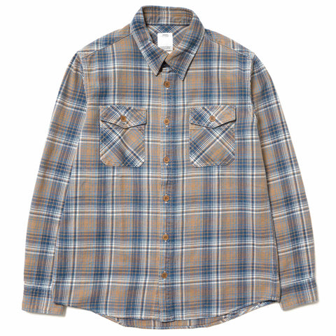 visvim Black Elk Flannel (Indigo Check) Blue