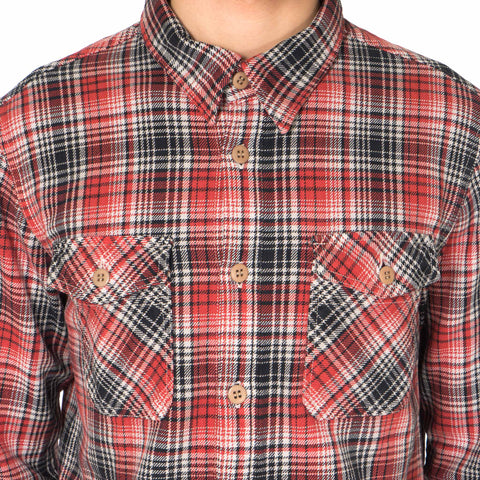 visvim Black Elk Flannel (Indigo Check) Red