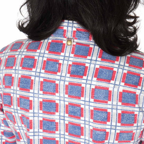 Black Elk Flannel (Printed CK) Blue