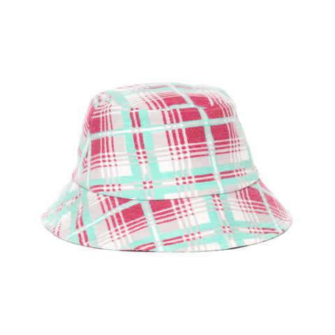 visivm Dome Bucket Hat (Printed Check) Green