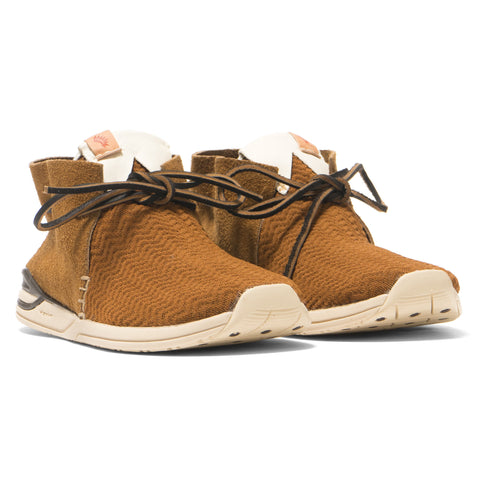visvim Huron Mesh Moc-Folk Brown