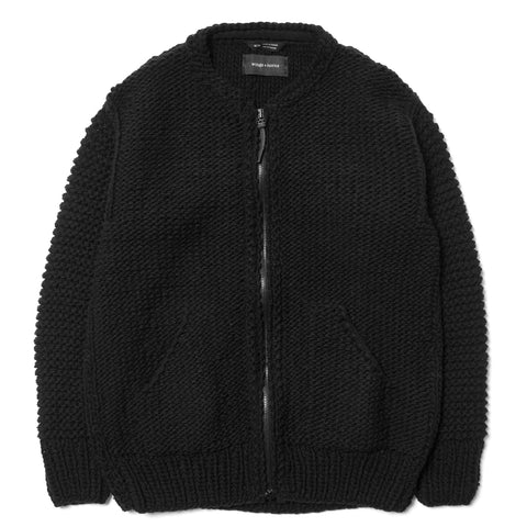 wings + horns Handknit Liner Jacket Black