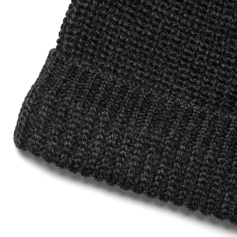 wings + horns Machine Knit Watch Cap Charcoal