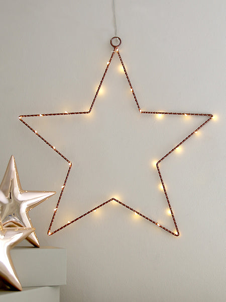 Bronze Wire Star Light Decoration