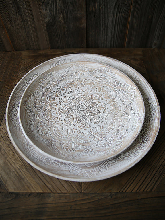Carved Centrepiece Plate