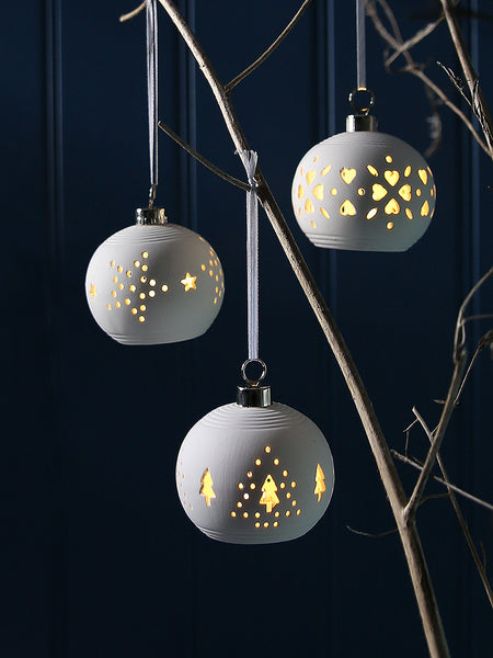 Ceramic Illuminated Baubles