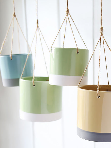 Colour Block Hanging Planter