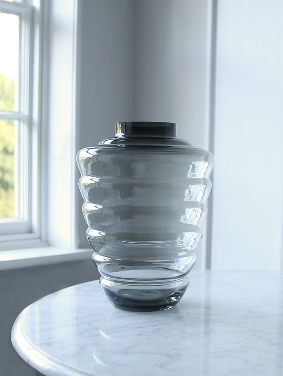 Smokey Glass Hive Vase