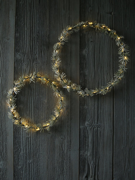 Illuminated Spruce Hoop Wreath