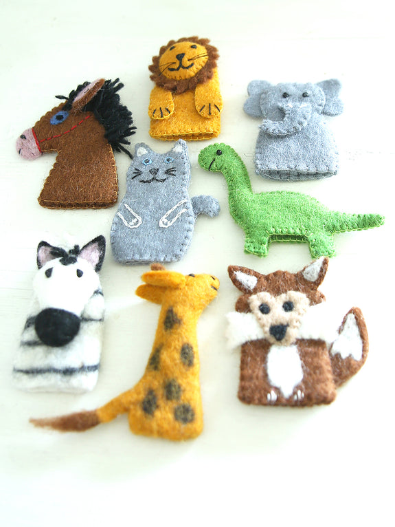 Felt Fairtrade Animal Finger Puppets