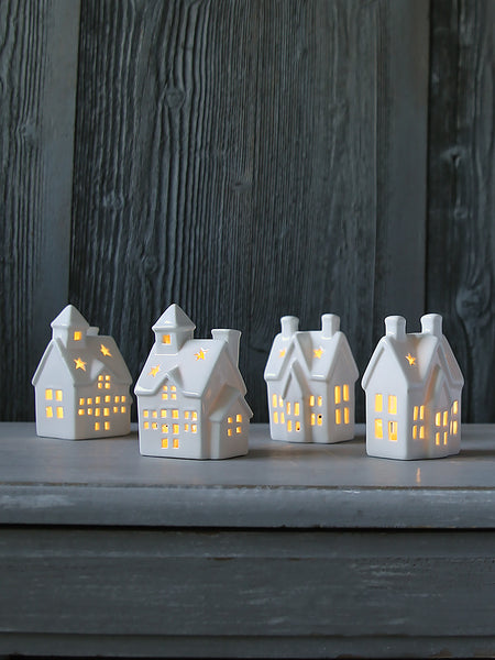 Little Porcelain Illuminated Village House