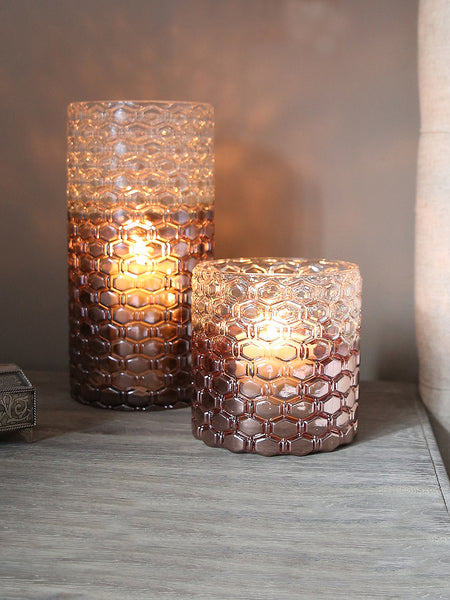 Metallic Ombre Glass Lantern