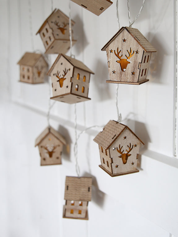 Reindeer House String Lights