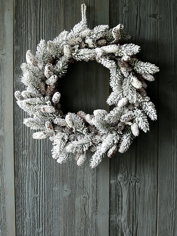 Snowy Spruce Wreath