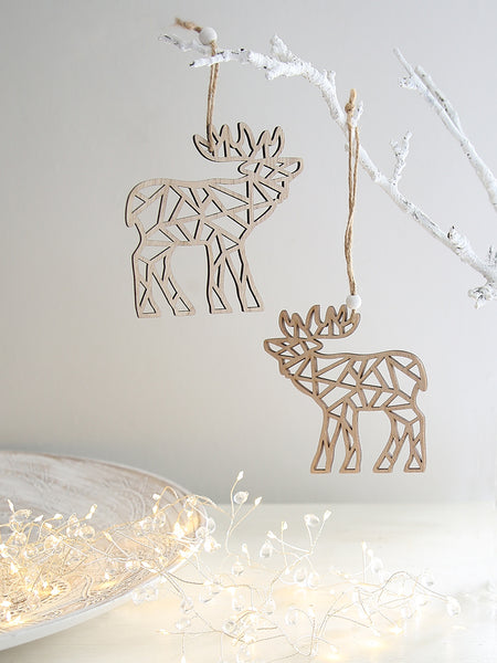 Stag Geometric Hanging Decoration Set