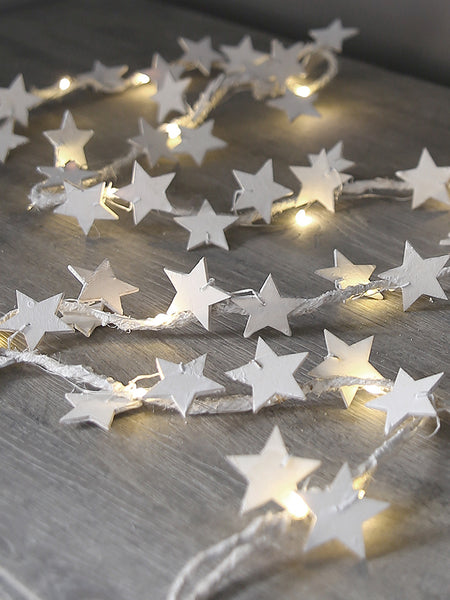 Whitewashed Star Garland