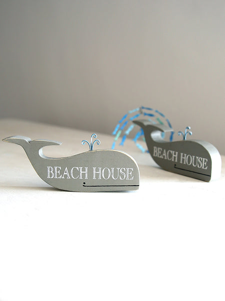 Beach House Whale Sign