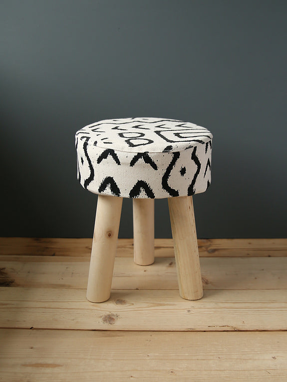 Linen Patterned Stool
