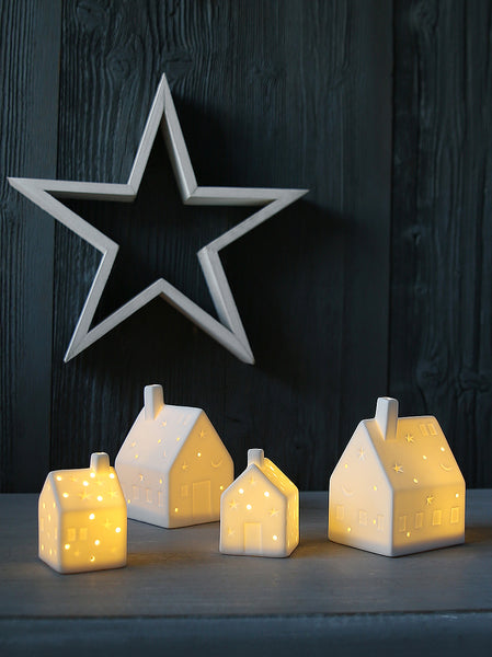 White Ceramic Starry House Light Decoration