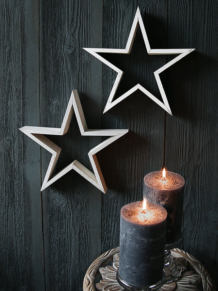 White Silhouette Star Decoration