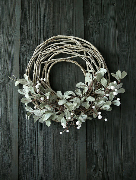 Willow And White Berry Foliage Wreath