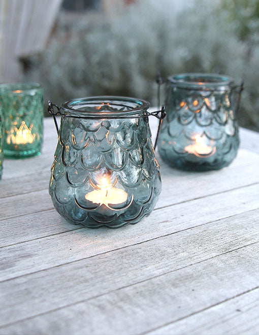 Cascade Hanging Glass Tealight Holder