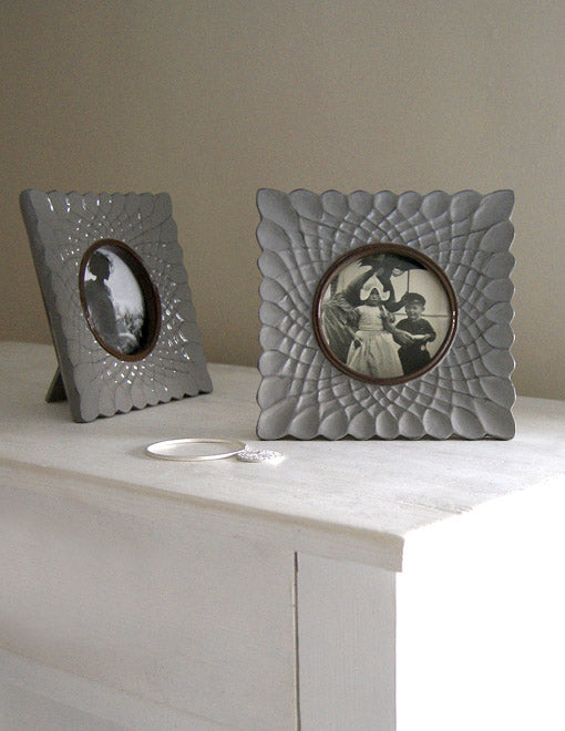 Ceramic Grey Photo Frame