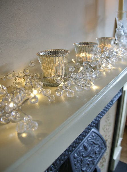 Clear Crystal Battery Light Garland