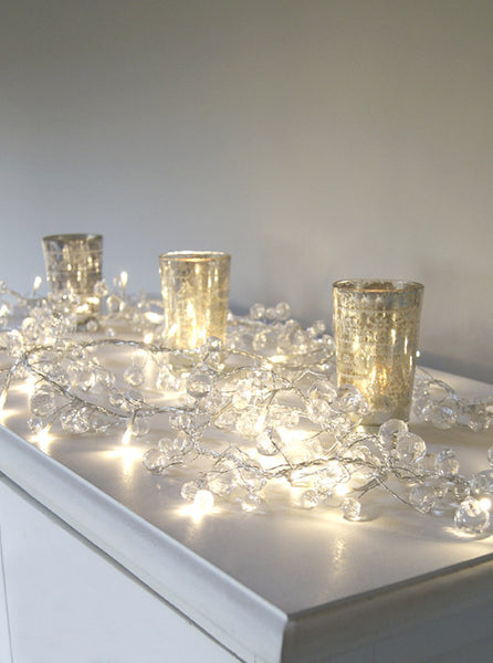 Clear Crystal Mains Light Garland