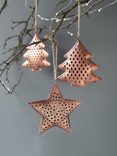 Copper Christmas Hanging Decoration