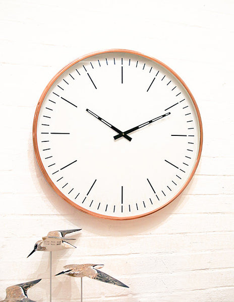 Copper Edge Wall Clock