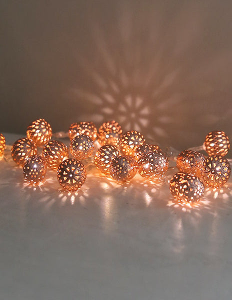 Copper Maroq Battery Light Garland
