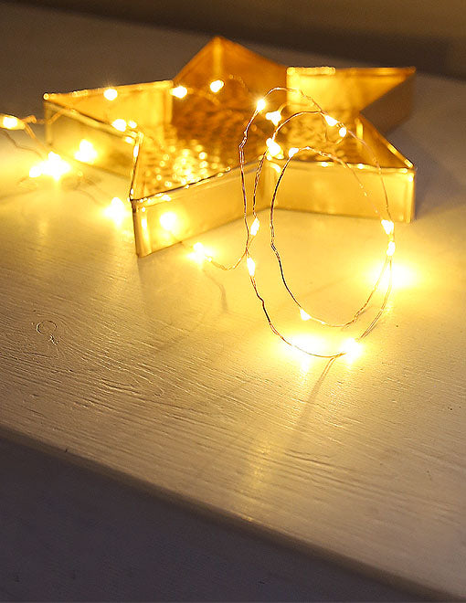 Copper Wire Battery Light Garland