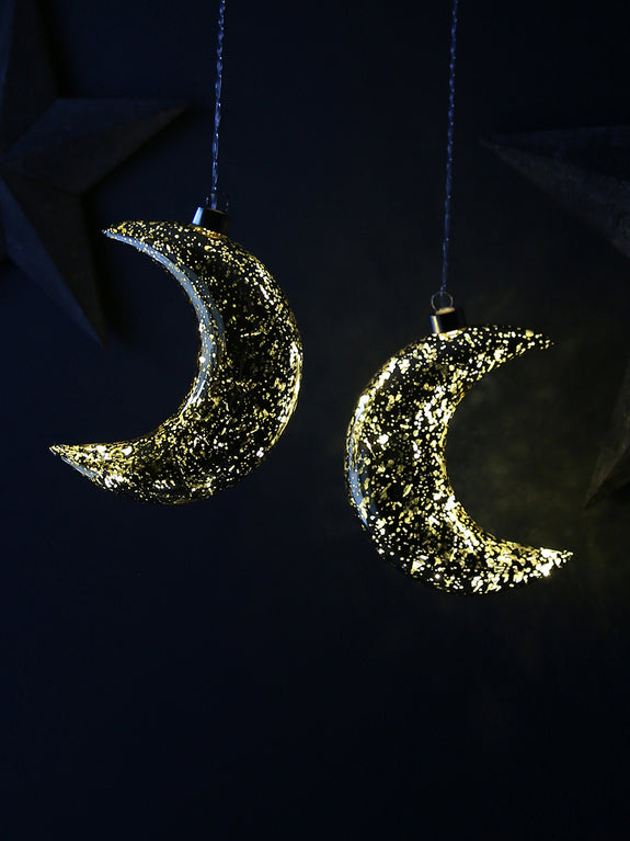 Crescent Moon Light-up Bauble