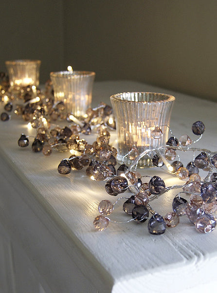Graphite Crystal Mains Light Garland