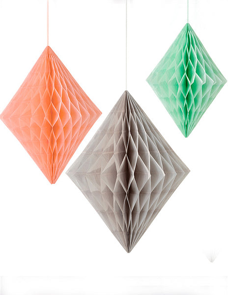 Pastel Paper Diamond Decoration Set