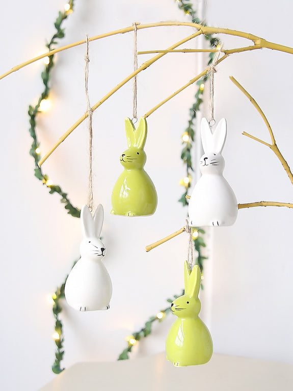 Ceramic Hanging Bunny Decoration