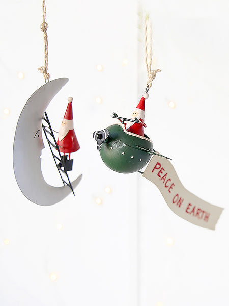 Father Christmas In Space Decoration