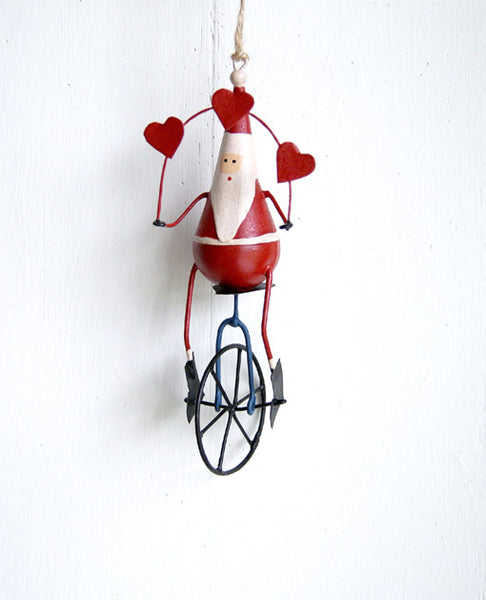 Father Christmas on Unicycle