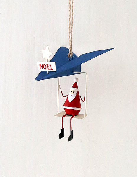 Father Christmas Paper Plane Decoration